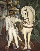 Agrarian Leader Zapata - Diego Rivera - www.diego-rivera-foundation.org