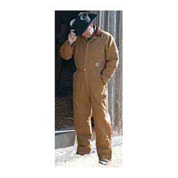 Quilt Lined Duck Mens Coveralls - Regular Brown - Item # 37444