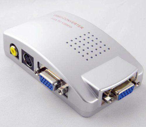AFUNTA PC to TV Video / VGA to RCA Converter (Silver)