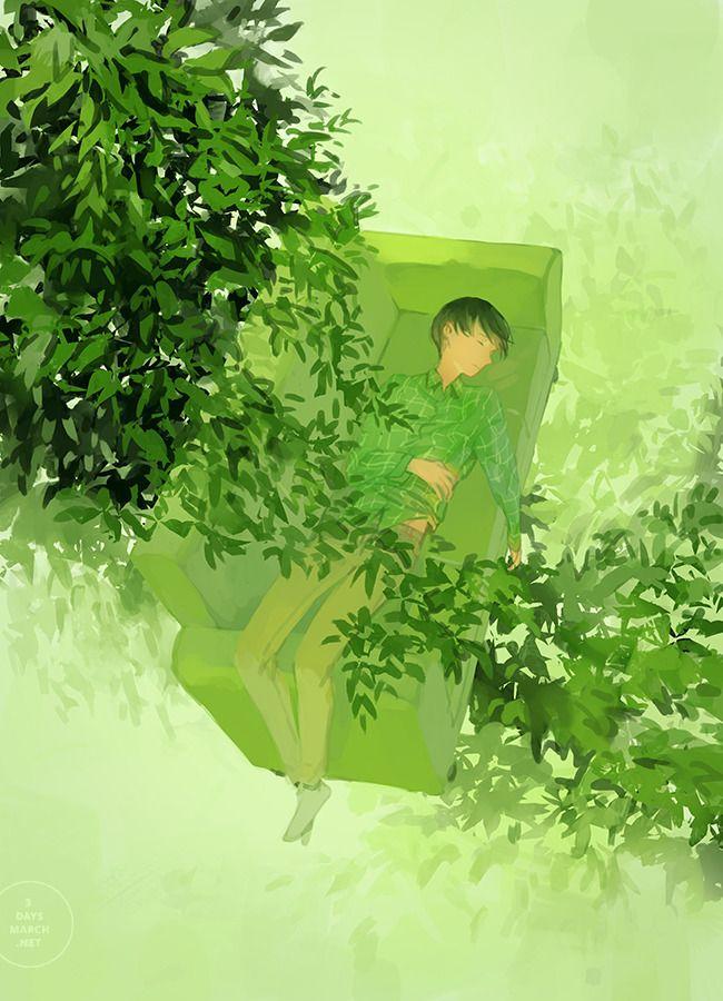Red Light Green Light Illustration Art Anime Scenery Aesthetic Anime