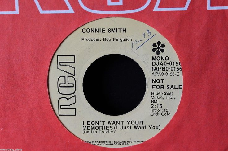 Connie Smith Everybody Loves Somebody Promo 45-rpm Record