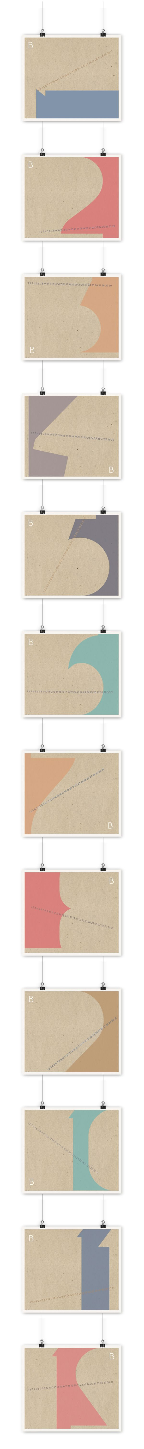 BIO calendar 2013 by kamila figura, via Behance