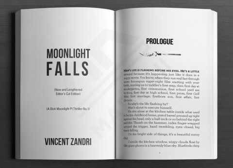 Print Layout Fiction Title Prologue Page Sample Book Design