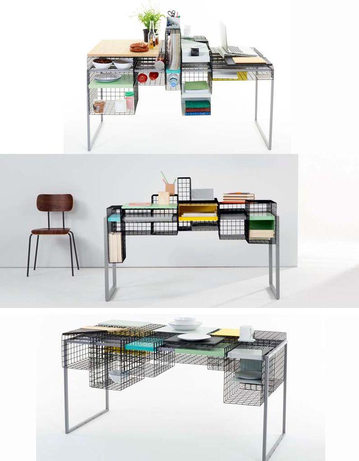 Bureau / plan de travail / table - Des meubles 2 en 1, 100% design - Elle Décoration