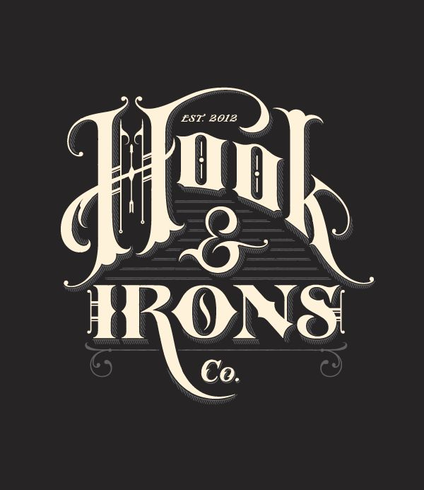 HOOK & IRONSLogo, Tom Lane, Inspiration, Gingers Monkeys, Typography Posters, Hooks, Graphics Design, Fonts, Iron