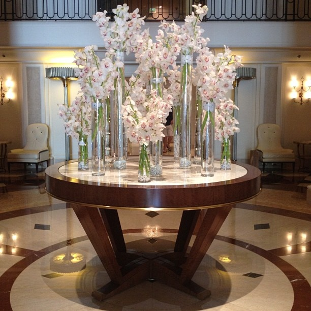 Orchids only need to be watered in the mornings once a week. A tip from @Beverly Wilshire (A Four Seasons Hotel)