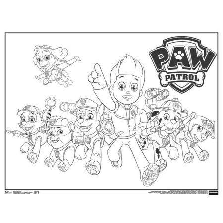 Paw Patrol Cartoon TV show Coloring Poster 24x18, Multicolor