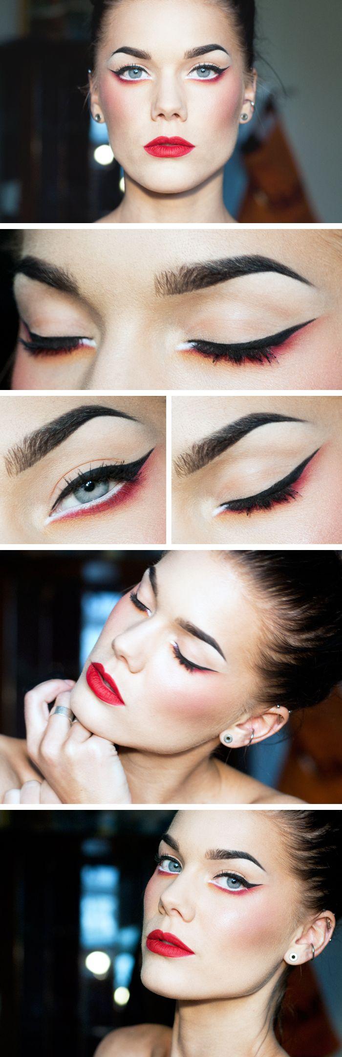 "Today's Look: :The Modern Geisha"" -Linda Hallberg (red!)04/07/13"