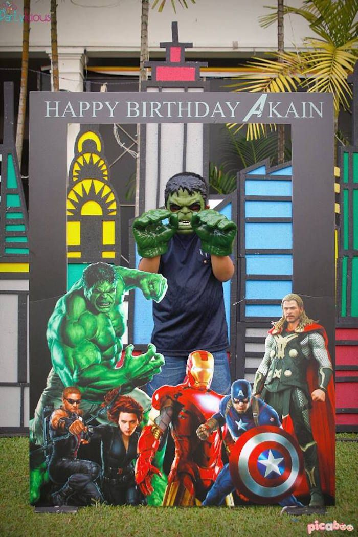 Decor from Avengers Birthday Party at Kara's Party Ideas. See more at karaspartyideas.com!