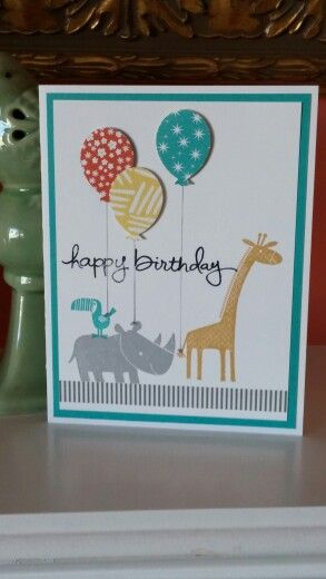 Zoo Babies Birthday, Stampin' Up! by N Rankin