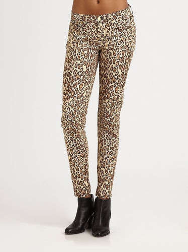 7 For All Mankind - Cheetah-Print Cigarette Jeans, $255.95
