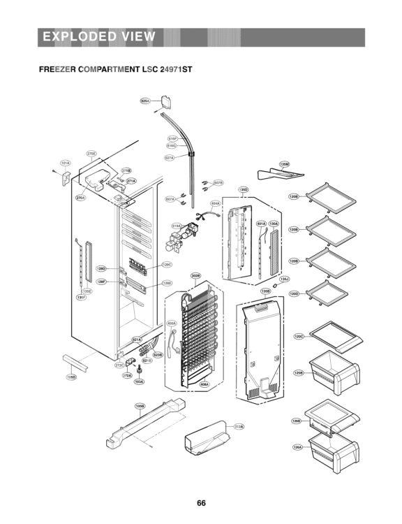 LG Refrigerator LSC24971ST Parts List