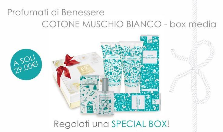 Perfumed #BOX with #cotton #scent! http://www.drtaffi.it/regali/box-cotton-medium.html Profumo Cotone + Bagnoschiuma Cotone + Crema Corpo Cotone a soli 29,00€! #promo