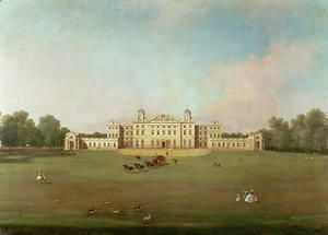 Badminton House, Gloucestershire  (Giovanni Antonio Canal) Canaletto