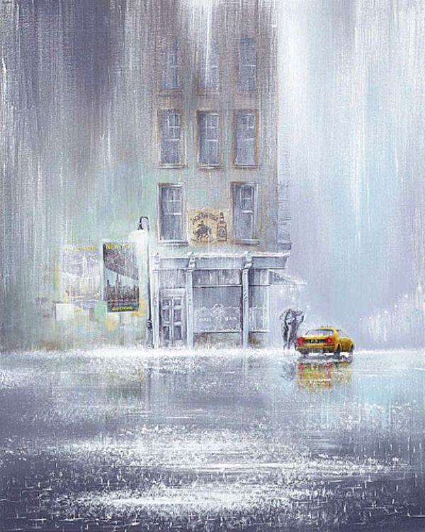 Jeff Rowland - English  artist who draws the rain.