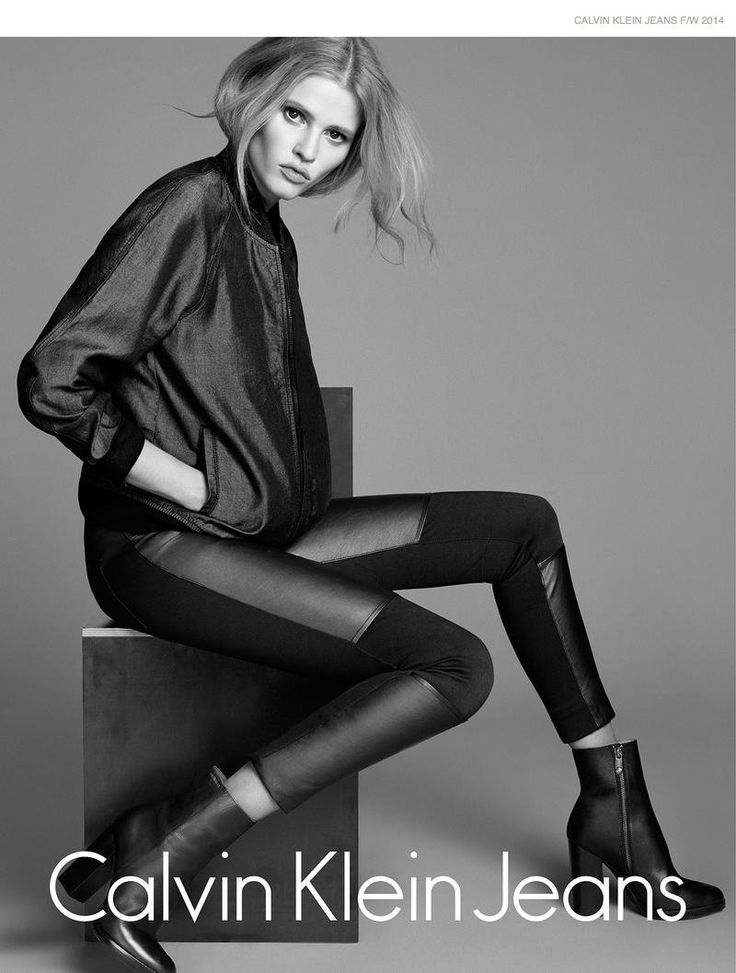 Lara Stone by Lachlan Bailey in Calvin Klein Jeans Fall 2014 Campaign