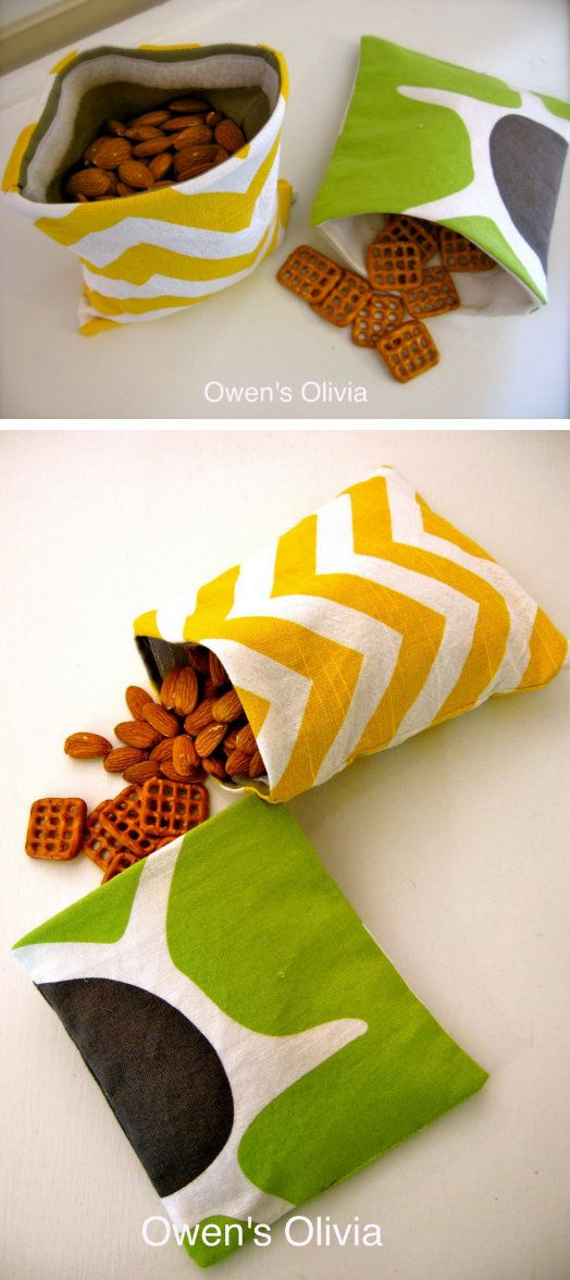 Fabric Snack Bags