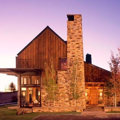Wholesale log - Rustic modern farmhouse exterior ...