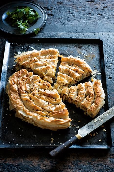 With a little bit of know-how and practice, creating your own pastry - sweet or savoury - and pairing it with all manner of delicious ingredients will make even the coldest day seem a little bit brighter: http://www.mindfood.com/recipe/spiced-chicken-and-cauliflower-filo-scroll/