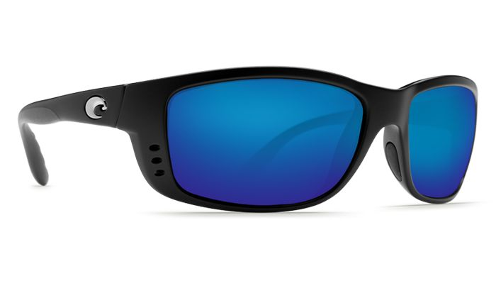 COSTA ZANE BLACK BLUE MIRROR 580G GLASS POLARIZED SUNGLASSES ZN11OBMGLP