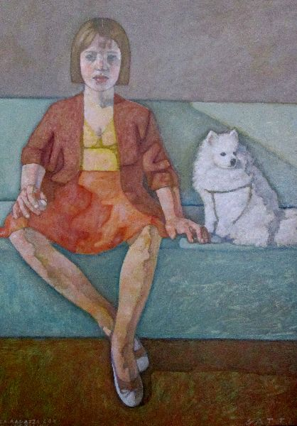 gigi-gatti-the-girl-with-the-little-dog-oil-on-panel