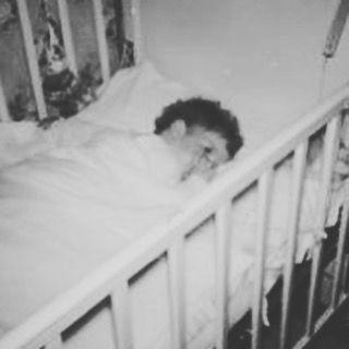 Caroline Kennedy  in her crib as a baby.