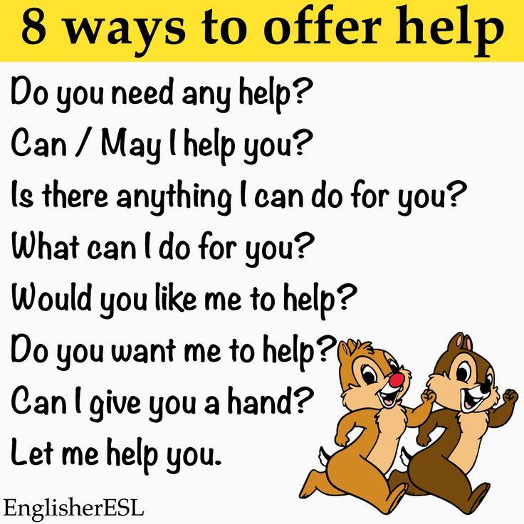 8 ways to offer help