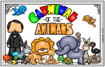 Are you looking for a new bright & colorful, large poster/visual to correspond with your CARNIVAL OF THE ANIMALS unit/program? This adorable LARGE visual aid/poster is just what you need!! This poster was made in Word and converted to PDF on LEDGER size paper 11 x 17.