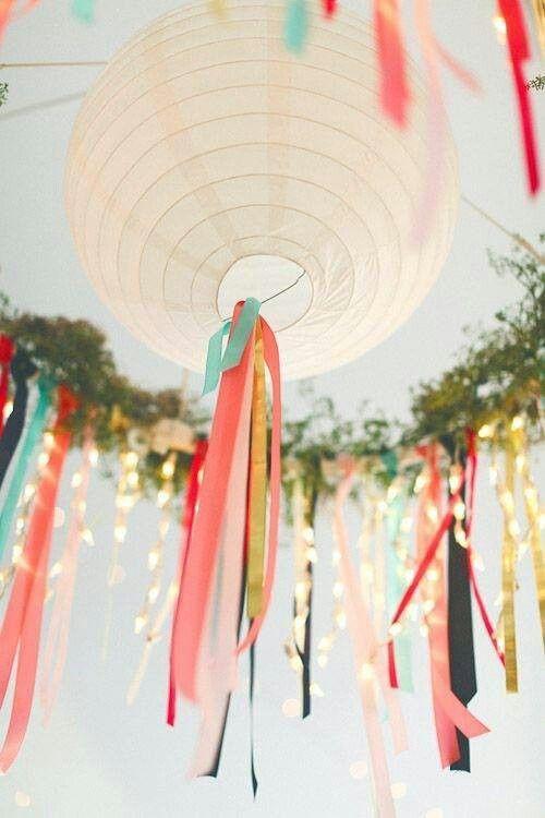 boho paper lantern for a baby shower