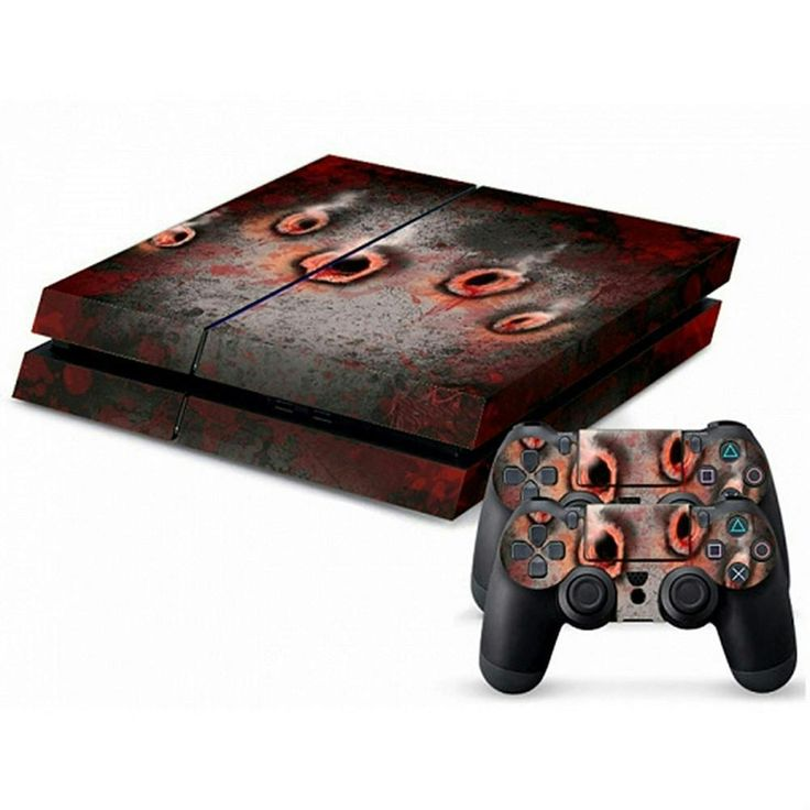MODFREAKZ™ Console and Controller Vinyl Skin Set - Bloody Bullet Holes for Playstation 4 #ps4 #gaming #customized #personalized #accessories