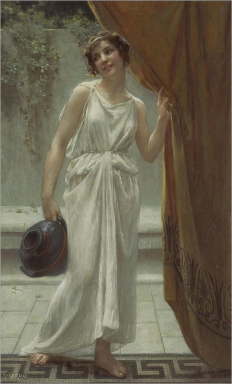 Guillaume Seignac (French 1870–1924) [Academicism] At the Fountain, date unknown. The Athenaeum