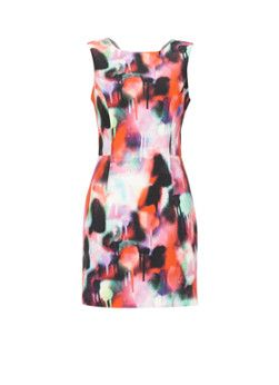 French Connection Tailored jurk met graffitiprint
