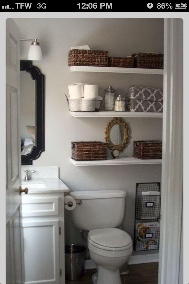 Bathroom - small space organizing