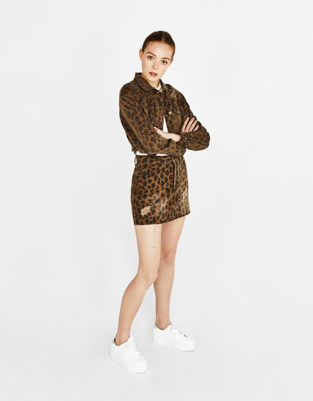 f88e7fd8af01 Leopard print mini skirt. Discover this and many more items in Bershka with  new products every week