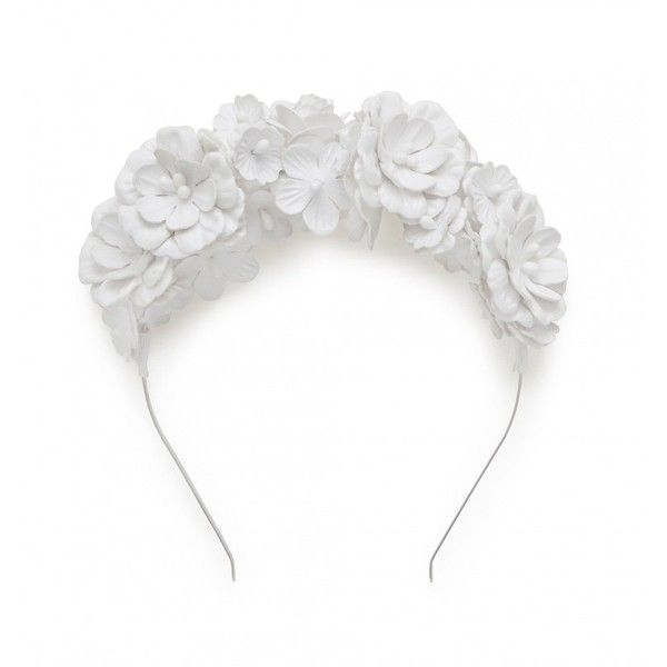 Chloe PU Flower Fascinator ($28) ❤ liked on Polyvore featuring accessories and hair accessories