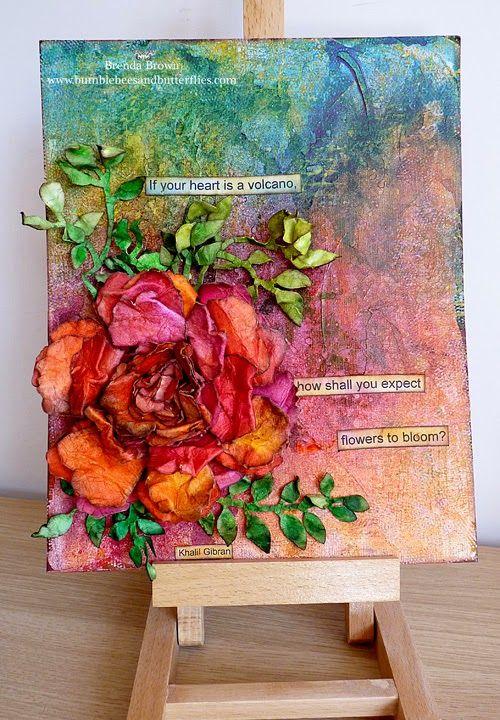 Best 25 3d canvas art ideas on pinterest canvas crafts for Mixed media canvas art ideas
