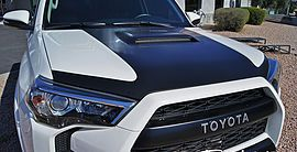 Pictures and description of a 2014 Toyota 4Runner TRD Pro White. Icon, Toyo, GOBI, Camburg, Fox Racing, nFab, Vinyl Wrap