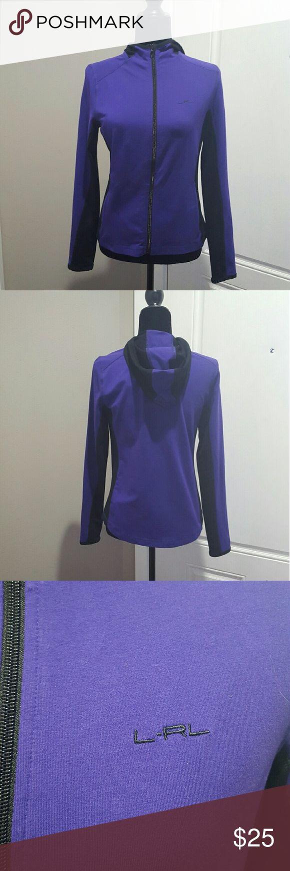 Women's Ralph Lauren hoodie, petite medium Women's Ralph Lauren purple and black track jacket/hoodie. Light weight. Size petite medium. No stains or tares. Ralph Lauren Tops Sweatshirts & Hoodies