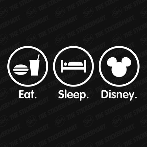 Eat sleep disney 8x3 5 vinyl decal