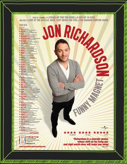 British comedian Jon Richardson