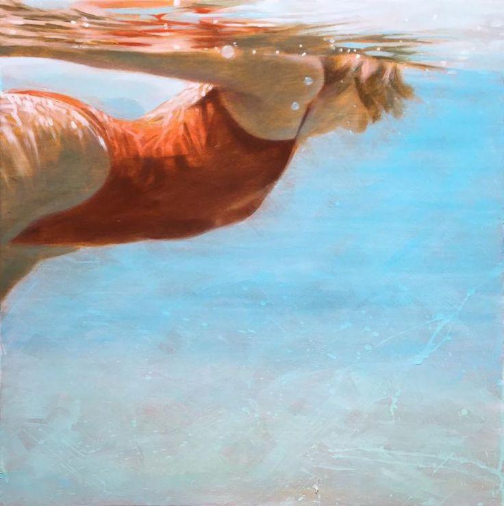 "Carol Bennett, ""See Water"" 24 x 24, Oil on Panel| Eisenhauer Gallery of Edgartown, MA"
