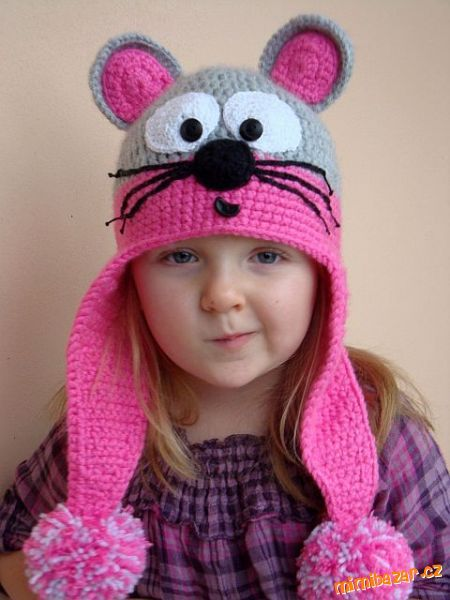 n8146 (450x600, 44Kb) - free crochet hat pattern - Instructions in russian but plenty of pics