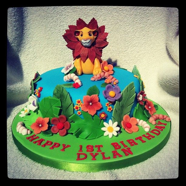 Lion King 1st birthday cake  ideas for Xennons 1st birthday  Pinte ...