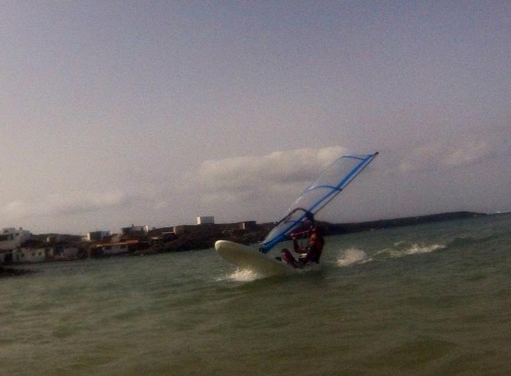 Leon 9 years old windsurfer