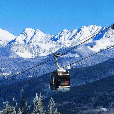 My favorite mountain to ski in Colorado. Vail Mountain, Vail, CO - Top 20 Ski Resorts - Sunset