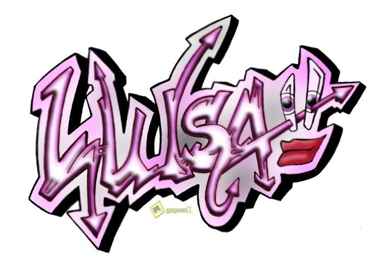 77 mejores imgenes de Graffitis con nombres en Pinterest