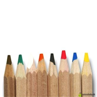 Ekstra tykke farveblyanter, specielt gode til de små børn. Uden lak og lavet af naturligt træ, Gut i det tyske Öko-Test. Hurtig dag-til-dag levering.