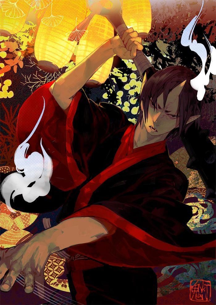 Tags: Anime, Demon, Lamp, Fangs, Shishio, Hoozuki no Reitetsu, Hoozuki (Hoozuki no Reitetsu)