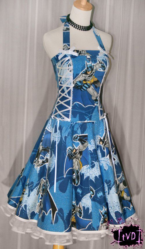 Beautiful vintage Batman dress... it comes in BLUE!!!