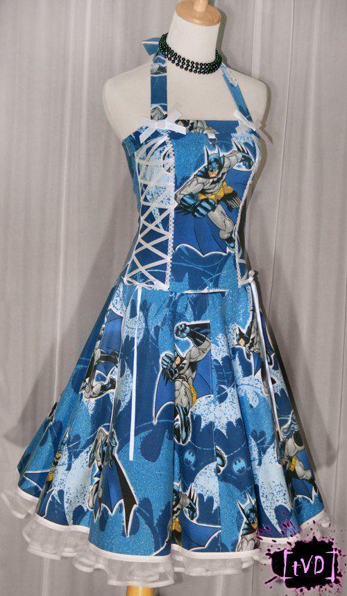 Beautiful vintage Batman dress